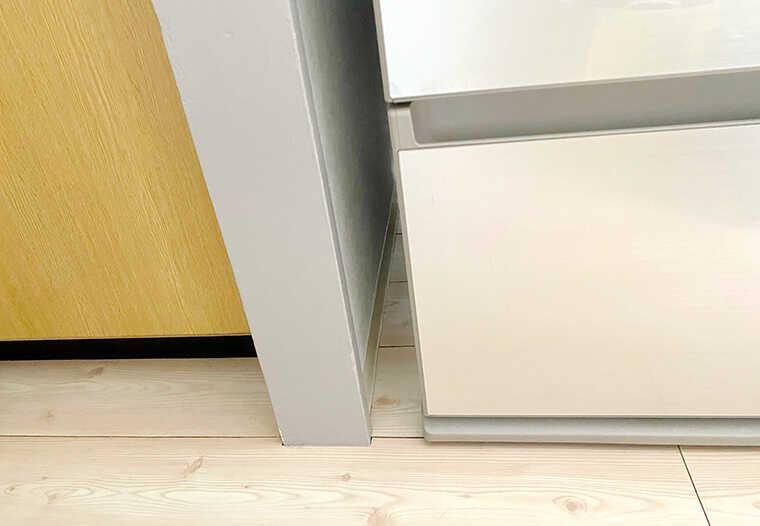 冷蔵庫とキッチンの隙間画像