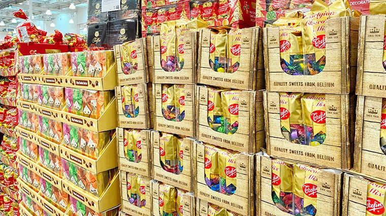 コストコのチョコ売り場画像