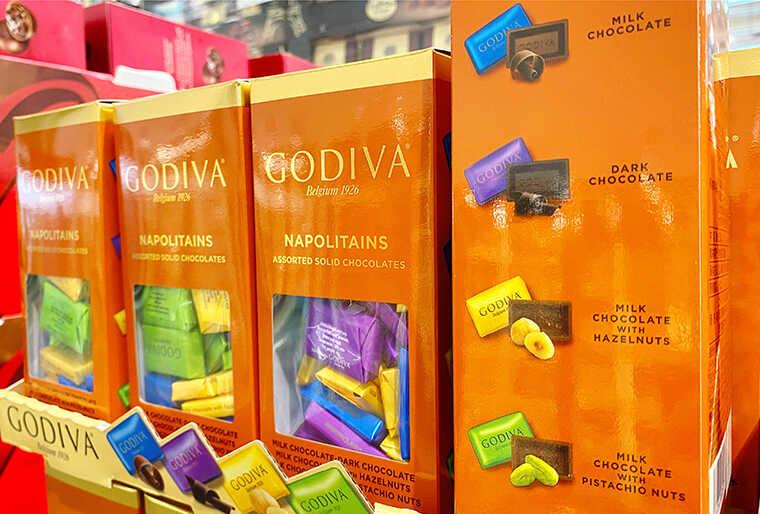 ゴディバナポリタンのチョコ画像